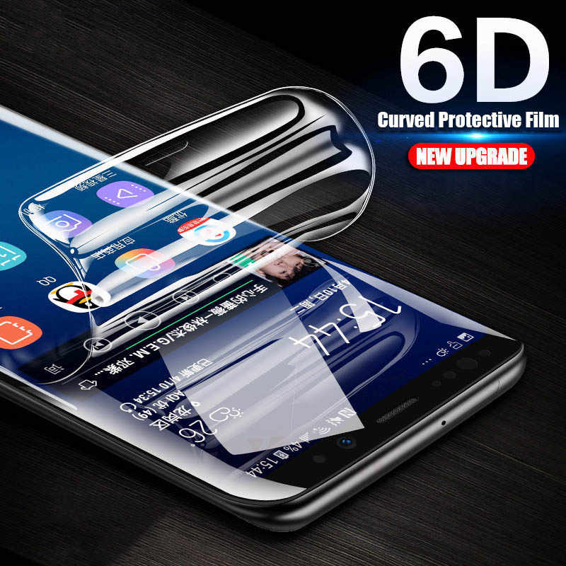 6D Curved Soft Protective Film For Samsung Galaxy Note 9 8 Screen Protector For Samsung S10 S9 S8 Plus S7 S6 Edge ( Not Glass )