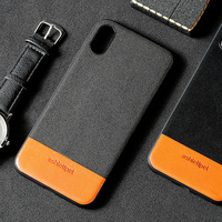 Sports style leather phone case for iPhone 7 Suede stitching Cowhide Two tone all inclusive phone protection case wangcangli