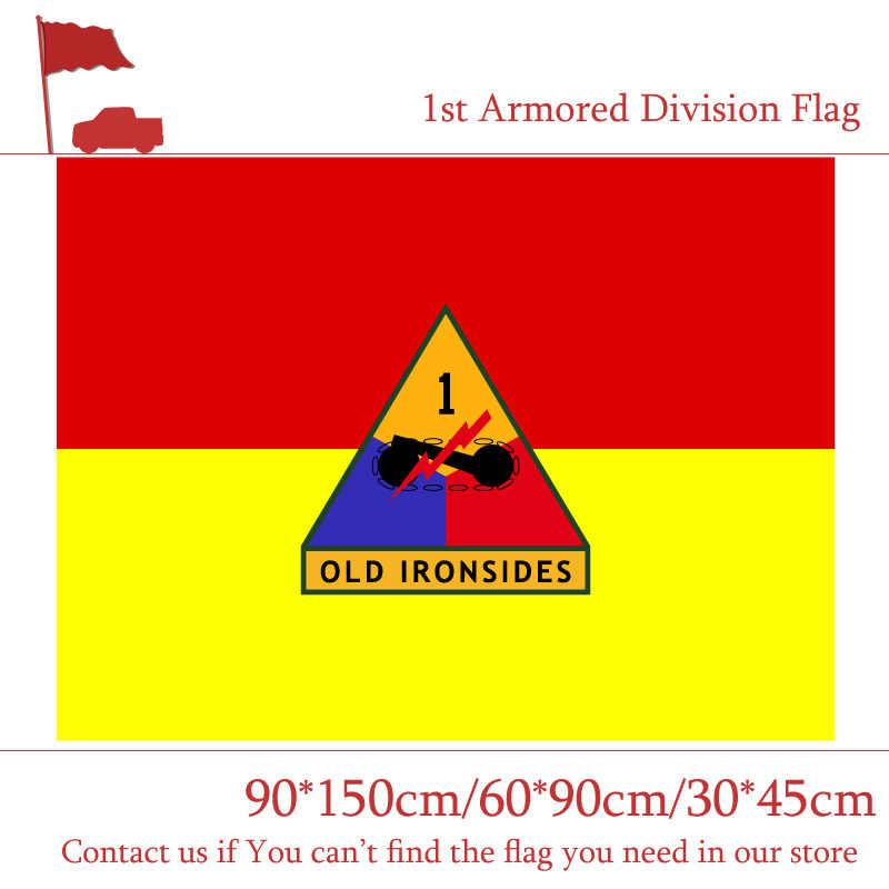 90*150 ซม./60*90 ซม./40*60 ซม. 1st 2nd 3rd Armored Division ธงจาก U.S.A 3x5ft การพิมพ์ดิจิตอลแบนเนอร์ 15*21 ซม. ธง