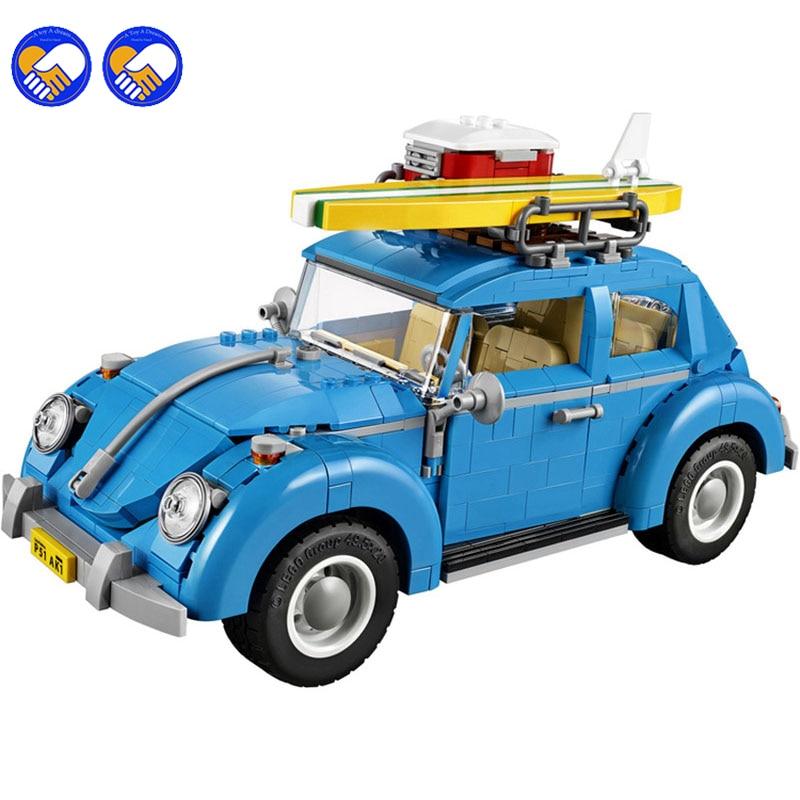A toy A dream 1167pcs Creator 10566 Mobile Expert Beetle car Kit 3D Model Building Blocks Toys Bricks Set Compatible Lepin