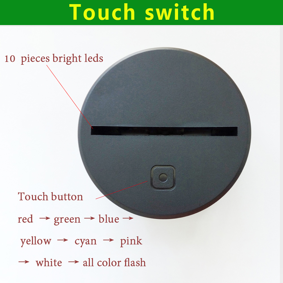 Creative 3D LED Touch Switch 7 Color Movements Shoes Night Light USB Sports Boy Bedroom Decor Colorful Table Lamp Lighting Gifts
