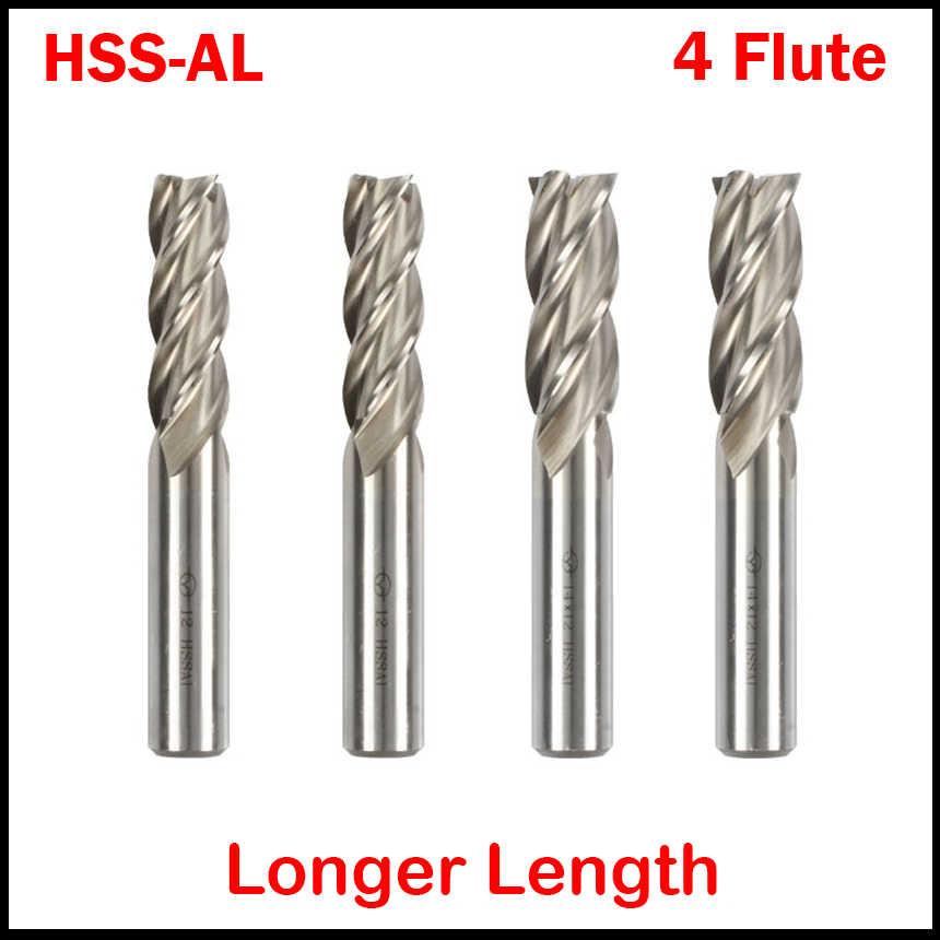 "1//4 x 3//8/"" Shank 4F Cobalt Steel Double End Mill"