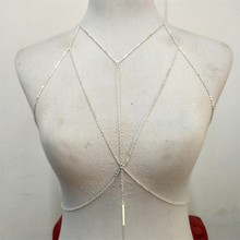 4 Styles Fashion Gold Silver Chain Bra Multilayer Sexy Beach Bikini Harness Necklaces Women Body ketting Jewelry BY156