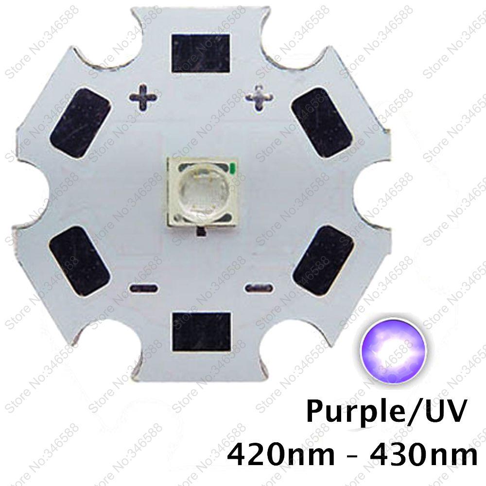 5pcs 3W 420nm to 430nm UV Ultraviolet Purple Color 3535 Epils