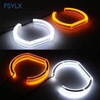 FSYLX E90 sedan 06 11 LED Angel eyes For BMW E90 SMD LED DRL daytime running light with turn signal light Car LED angel eyes