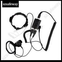 עבור baofeng uv 5r הגרון צבאית טקטית FBI Heavy Duty מיקרופון אוזניות עבור Baofeng UV-5R עבור Kenwood KG-UVD1uv-8hx tyt ה-uv8000d PX-777 (1)