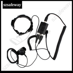 FBI Heavy Duty taktyczne wojskowe gardła zestaw bezprzewodowy mikrofonu dla baofeng UV-5R dla Kenwood KG-UVD1uv-8hx tyt th-uv8000d PX-777