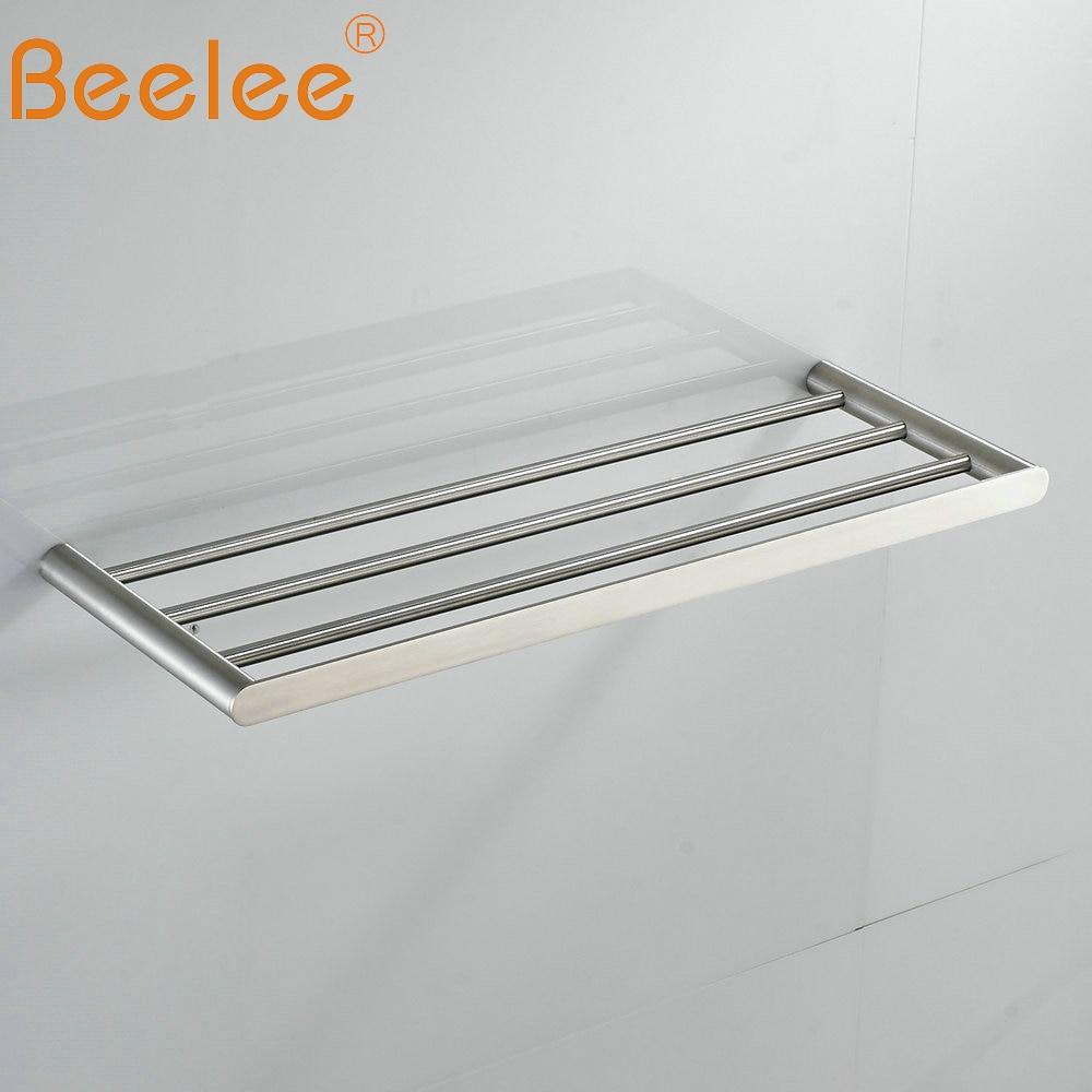 Beelee  Bathroom Minimalist Towel Rack Shelf Wall Mounted Towel Holder,Brushed SUS304 Stainless Steel BA3203SS