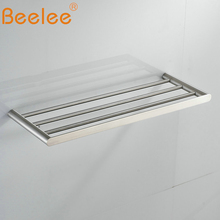 Beelee  Bathroom Minimalist Towel Rack Shelf Wall Mounted,Brushed SUS304 Stainless Steel BA3203SS