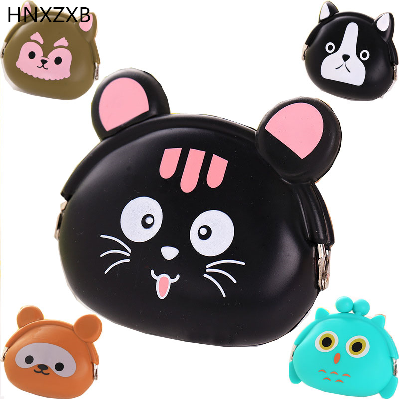 2016 New Fashion Lovely Kawaii Candy Color Cartoon Animal Women Girls Wallet Multicolor Jelly Silicone Coin Bag Purse Kid Gift fggs women girls wallet kawaii cute cartoon animal silicone jelly coin bag purse kids gift small cat