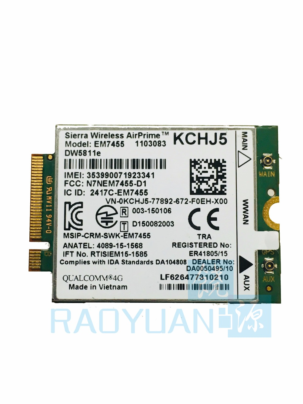 RAOYUAN Sierra Airprime EM7455 DW5811E for DELL E7270 E7470 E7370 E5570 Wireless