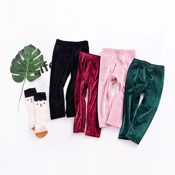 Sweet Ins Hot Sell Baby Kids Velvet Leggings Pants Candy Color Soft Spring Autumn Fashion Toddler Baby Pants