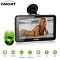 CARCHET Carro GPS Android 7 ''2.4G WIFI 1080 P HD DVR Traço Cam LEVOU Tela Sensível Ao Toque de Navegação GPS Embutido 512 MB 8G America Mapa