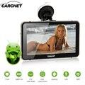 CARCHET Coche GPS Android 7 ''2.4G WIFI 1080 P HD DVR de la Rociada Cam LED Pantalla Táctil de Navegación GPS Incorporado 512 MB 8G Mapa de América
