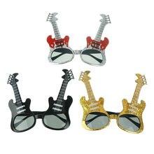 2019 Rock Gitarre Gläser Lustige Sonnenbrille Kinder Erwachsene Bar KTV Brillen Geburtstag Dance Party Favors Geschenk