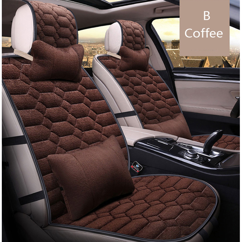 universal autu car seat covers set faux fur cute car interior accessories cushion styling winter. Black Bedroom Furniture Sets. Home Design Ideas