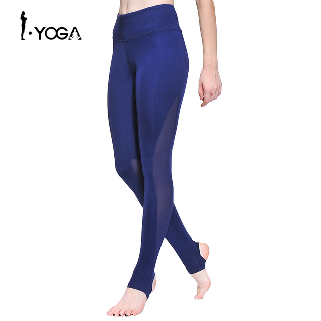 475a23c6c Fitness Women Sport Pants Training Athletic Sportswear Trousers Yoga Mesh  Leggings Workout Gym Running Tights with Foot K0009