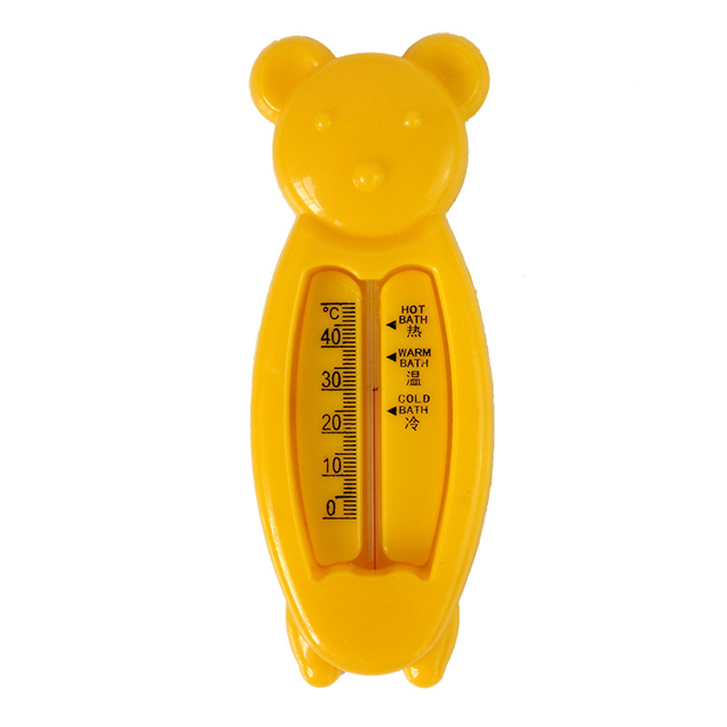 1Pcs 3 Colors Quality Security Useful Floating Lovely Bear Baby Water Thermometer Float Baby Bath Toy Tub Water Sensor Baby Care