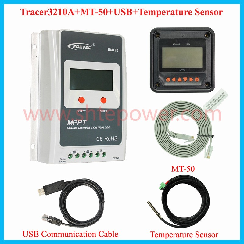 2016 Best 12v 24v 30a solar charge controller MPPT solar charger price Tracer3210A