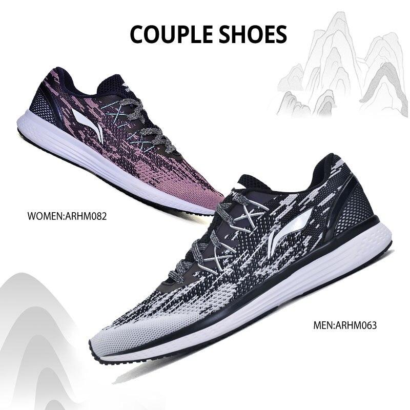 Li-ning hommes 2017 vitesse étoiles coussin chaussures de course respirant Textile baskets léger doublure chaussures de Sport ARHM063 XYP467 - 6