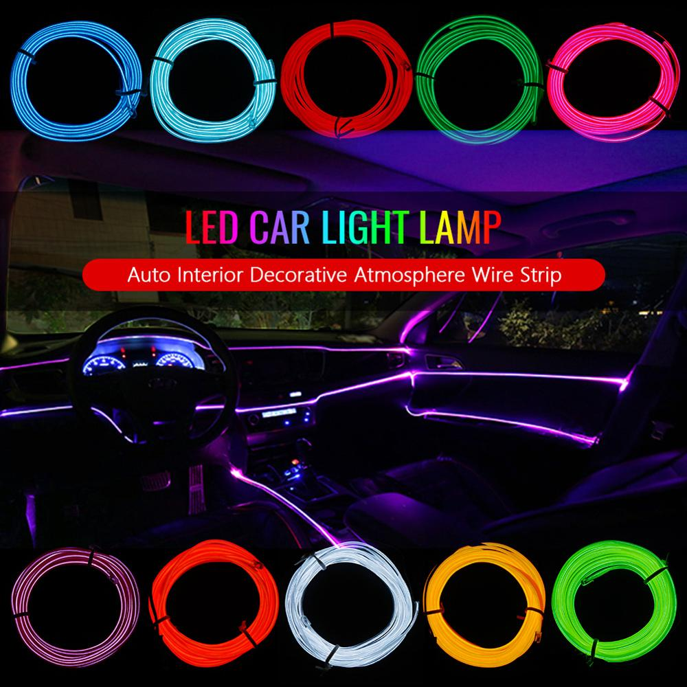 Новая Проводная флеш веревка DC12V, трубный кабель, Светодиодная лента, гибкая неоновая лампа, светящийся струнный светильник для украшения автомобиля, интерьер, атмосферный светильник|Сигнальная лампа| | АлиЭкспресс