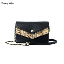 Tonny Kizz fashion women crossbody bags with snake prints luxury handbags designer bolsa feminina shoulder bag multiple layers