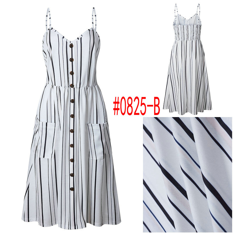 HTB1nYFvbq5s3KVjSZFNq6AD3FXaC Summer Women Dress 2019 Vintage Sexy Bohemian Floral Tunic Beach Dress Sundress Pocket Red White Dress Striped Female Brand Ali9