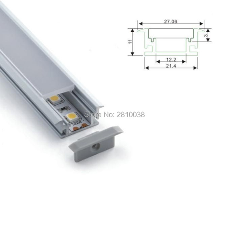 10 X 1M Sets/Lot T style Anodized aluminum housing for led lights and Extruded led profile alu for Floor or ground lights