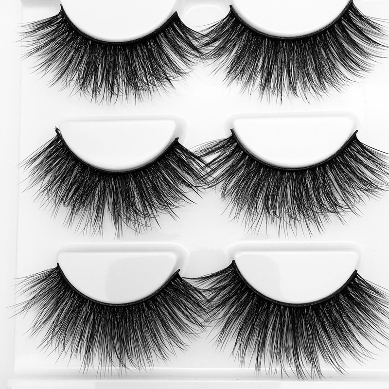 YOKPN Multilayer 3D Thick False Eyelashes Natural Cross Fake Eye Lashes Volume Eyelash Cotton Thread Stage Makeup Eyelashes