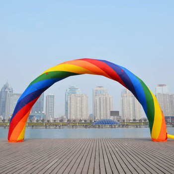 1PC 26ft= 8M inflatable Rainbow arch for Advertisement Party Supplies/Event Decorations/Inflatable Products