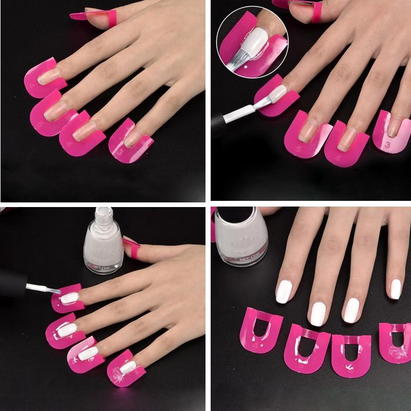 26pcs/Lots Nail Gel Protector Stencils Creative Beauty Nail ...