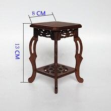 Квадратная основа из цельной древесины резьба домашнего действия роль ofing пробовать ваза с Буддой предметы мебели основа камень искусство ремесла