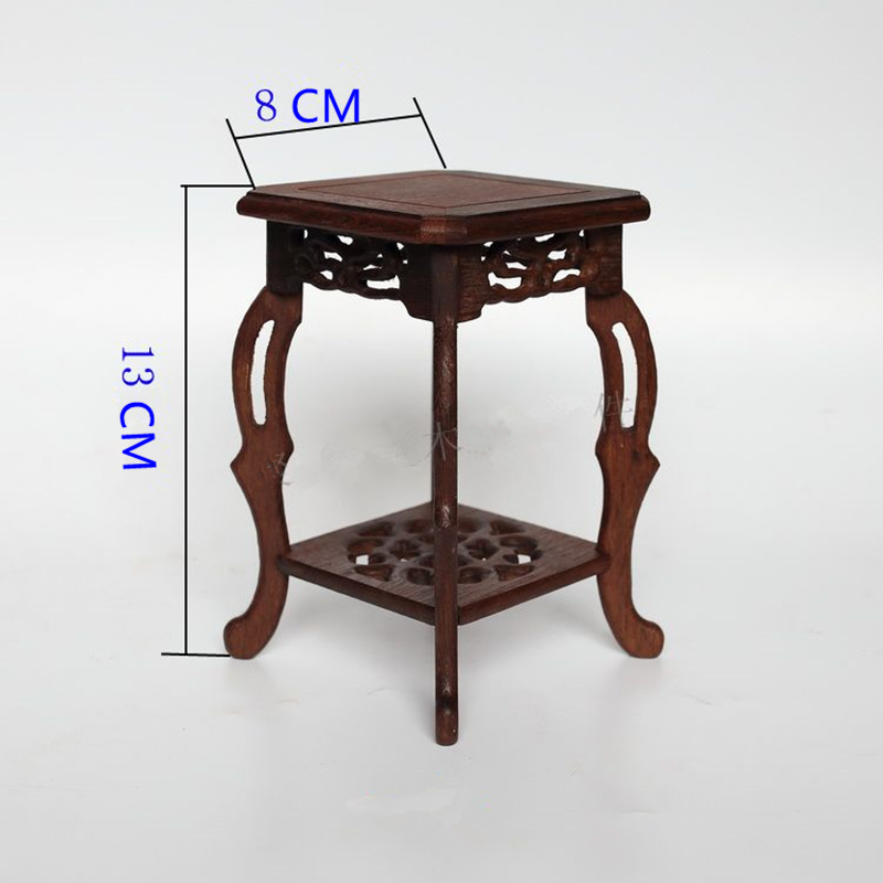 Square base solid wood carving household act the role ofing is tasted of Buddha vase furnishing articles base stone arts  crafts household act the role ofing is tasted mahogany wood carving handicraft circular base of buddha stone are recommended