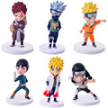 2017 Novo 6 pçs/set Anime Naruto Uzumaki Naruto + Hyuga Hinata PVC Action Figure Modelo Coleção Toy Aprox Animação RT057