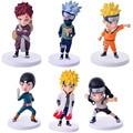 2017 Nuevo 6 unids/set Anime Naruto Uzumaki Naruto + Hyuga Hinata PVC Figura de Acción Model Collection Toy Aprox Animación RT057