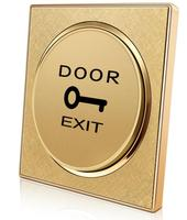 Interruptor de liberação da porta do botão de pressão da saída da porta dourada para o controle de acesso