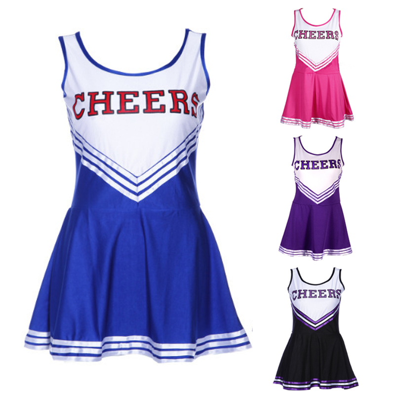 2018 Hot Sale Cheerleader Uniform Women Dresses Cosplay Costumes Girls Clothing Short Sleeve Party Outfit Fancy Dress