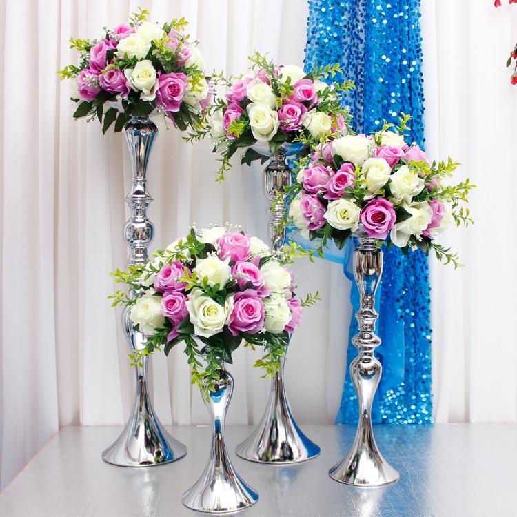 꽃 공 홀더 전시 웨딩 테이블 중앙 장식 장식 촛대 스탠드 꽃병 촛대 Candelabra 20pcs