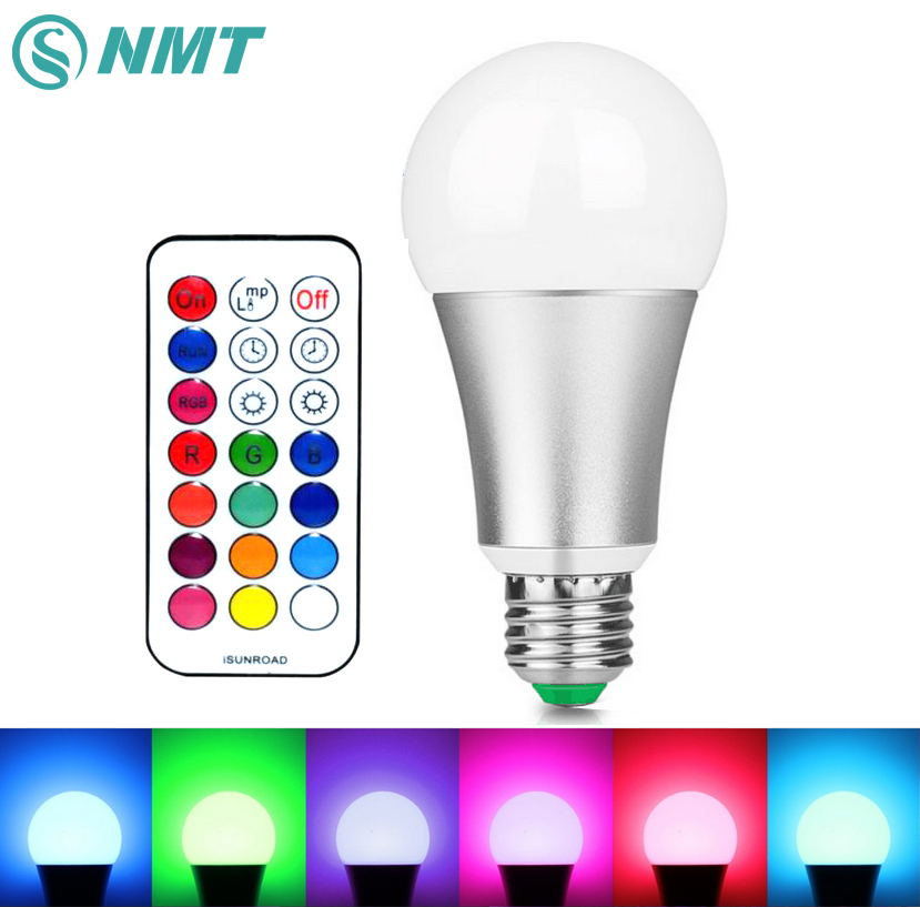 12W E27 LED Bulb Dimmable RGB White LED Lamp Light AC85-265V High Brightness led stage lamp with 120 colors 10w e27 led bulb lamp rgb stage light 12 colors led lights for home remote control brightness timing ac 85 265v rgb cool white