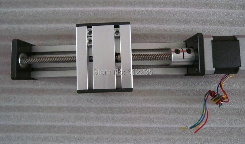 Ст CNC высокой точности Т8*4 Швп раздвижной стол эффективный ход 1000мм+1 шт нема 23 stepper мотора оси XYZ линейные движения