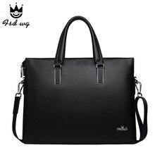 New briefcase shoulder bags minimalism men's handbag business bag mens crossbody bag leather bolsas famous brand designer bolsos