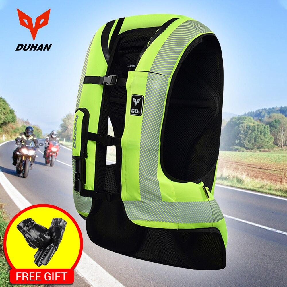 DUHAN Moto Air-sac Gilet Moto Gilet Avancée Air Sac Système Équipement De Protection Réfléchissante Moto Airbag Moto Gilet