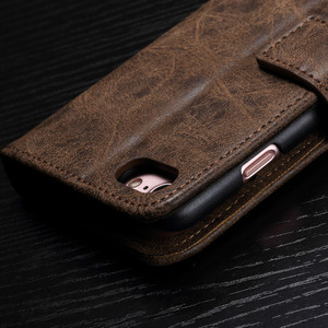 Image 3 - Luxury leather Flip Phone case for iphone 6 7 8 s plus iphone x magnetic wallet cases full cover dirt resistant with card Cash