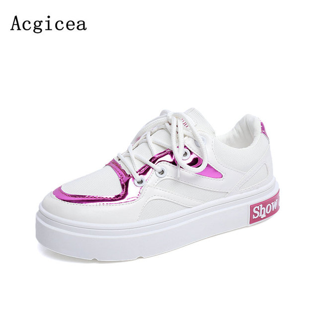 9cb0a29a6 2017 Nova Primavera Outono Senhoras Sapatos Confortáveis Para A Mulher  Chuva Tênis Casuais Bonito Selvagem Plataforma