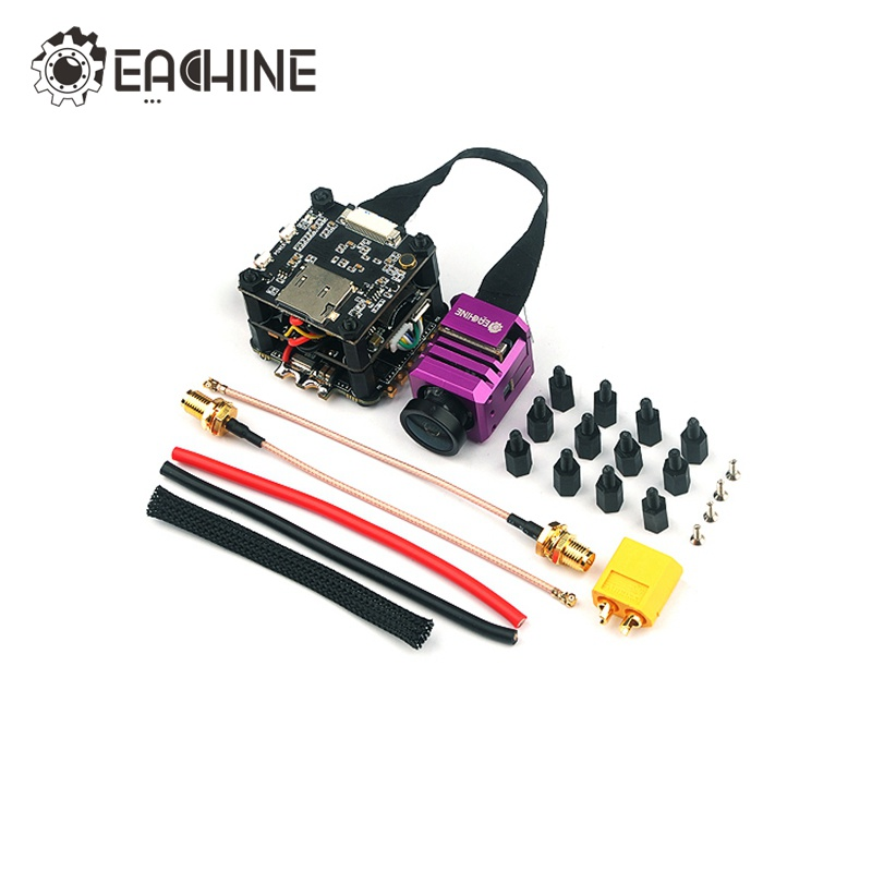 Original Eachine Stack-X F4 Flytower F4 Flight Controller Built-in VTX OSD 1080P DVR 4 In 1 35A Dshot600 ESC original emax f4 magnum all in one fpv stack tower system f4 osd 4 in 1 blheli s 30a esc vtx frsky xm rx