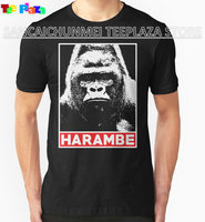 Teeplaza Online Shirt Store Crew Neck Short Sleeve Harambe Gorilla Lover Premium Tee Shirts For Men