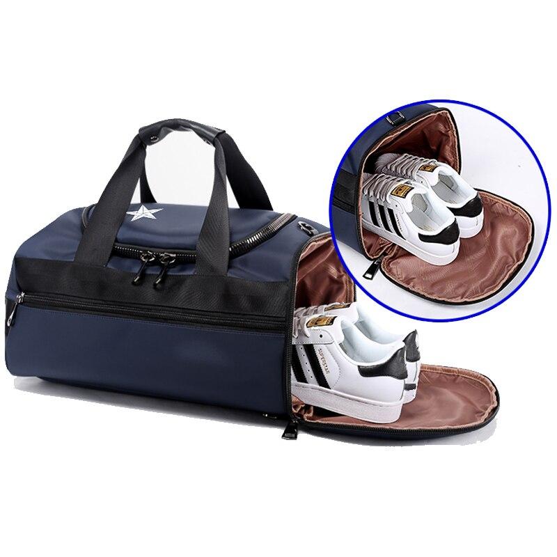 BOPAI Brand Multifunction Travel Backpack Bag Large Capacity Man Travel Shoulders Bag Rucksack Male BackpackFashion Black Blue