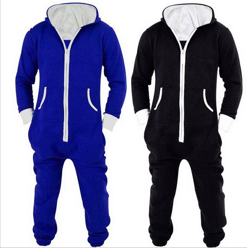 2018 Winter Men's Plus Size Home Pajamas One Piece Adult Onesie Mens Women Superman Jumpsuit Sleepwear