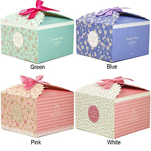 Chilly Gift Boxes, Set of 10 Decorative Treats Boxes, Cake, Cookies, Candy and Handmade Gift Boxes for Christmas .Flower PatternChilly Gift Boxes, Set of 10 Decorative Treats Boxes, Cake, Cookies, Candy and Handmade Gift Boxes for Christmas .Flower Pattern