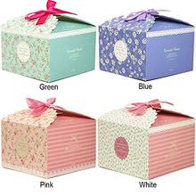 Chilly Gift Boxes, Set of 10 Decorative Treats Cake, Cookies, Candy and Handmade Boxes for Christmas .Flower Pattern